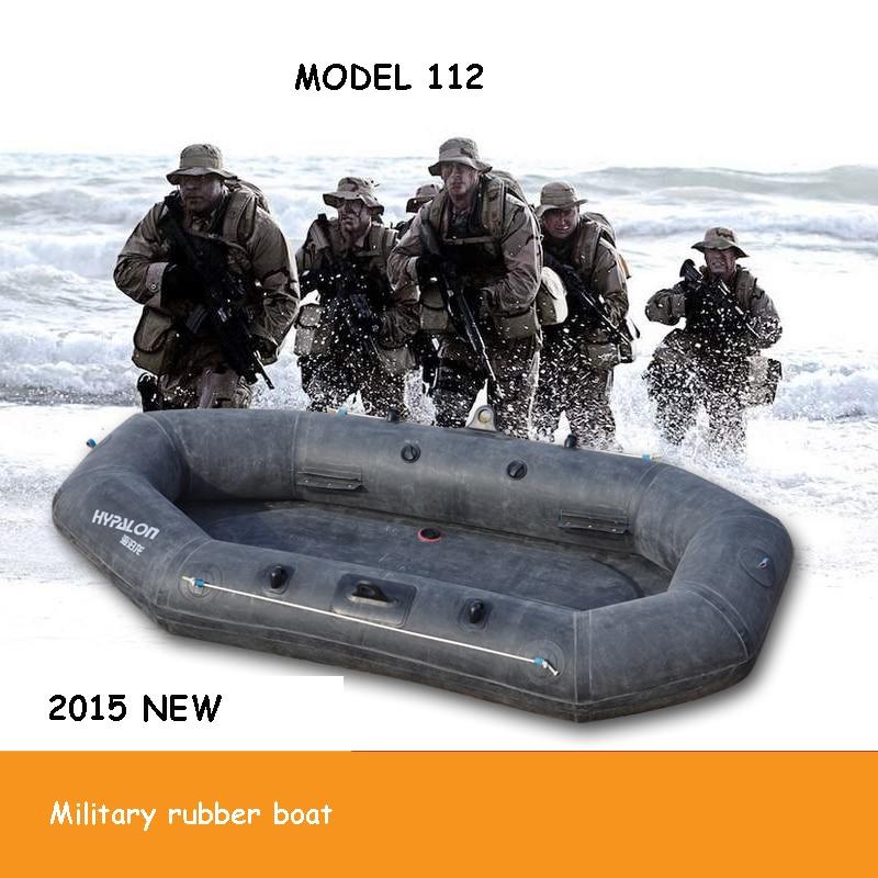 Bateau gonflable en caoutchouc militaire kayak bateau de pêche à la dérive bateau épaissi sol dur troupes en caoutchouc 2.2 M pour 2 personnes