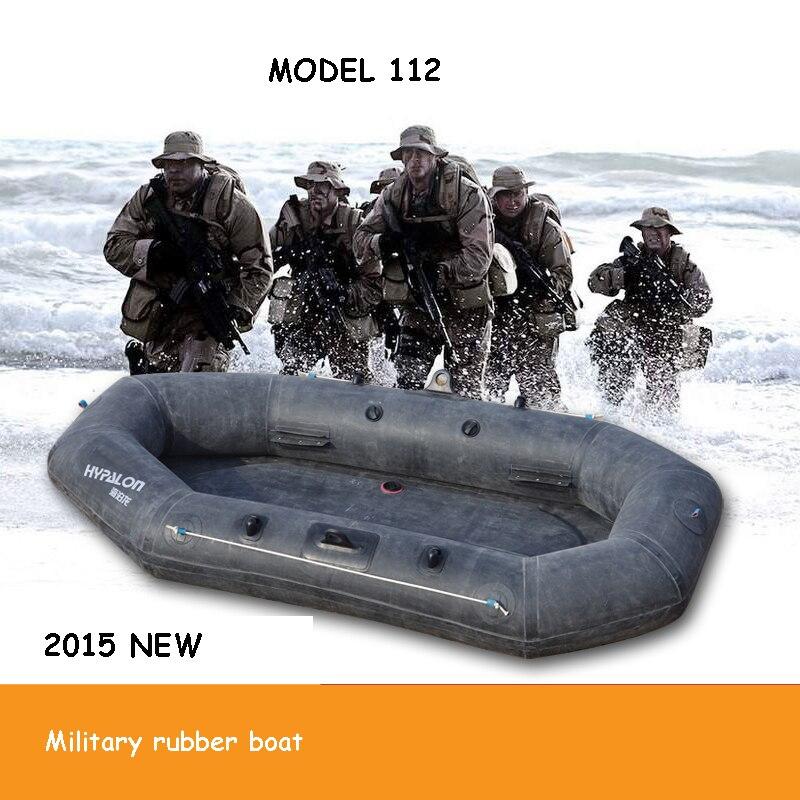 Militaire caoutchouc gonflable bateau de pêche en kayak bateau à la dérive épaissie sol dur troupes caoutchouc 2.2 M pour 2 personnes