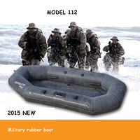 Military rubber Inflatable boat kayak fishing boat drifting boat thickened hard ground troops rubber 2.2M for 2 persons