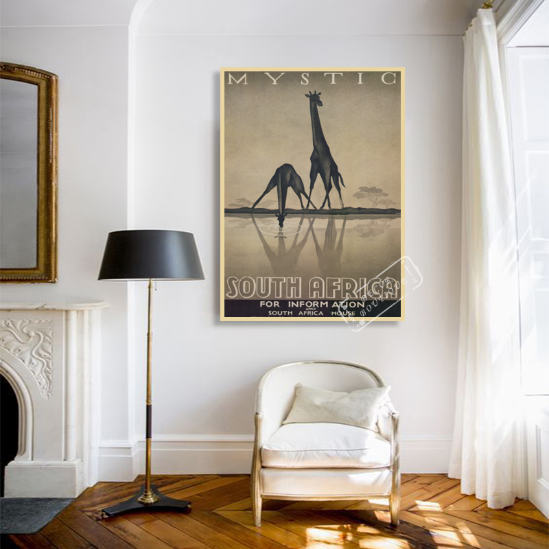 Us 3 98 Mystic Inform South Africa Elephant Scenery Vintage Classic Retro Decorative Poster Diy Wall Canvas Stickers Posters Home Decor In Painting