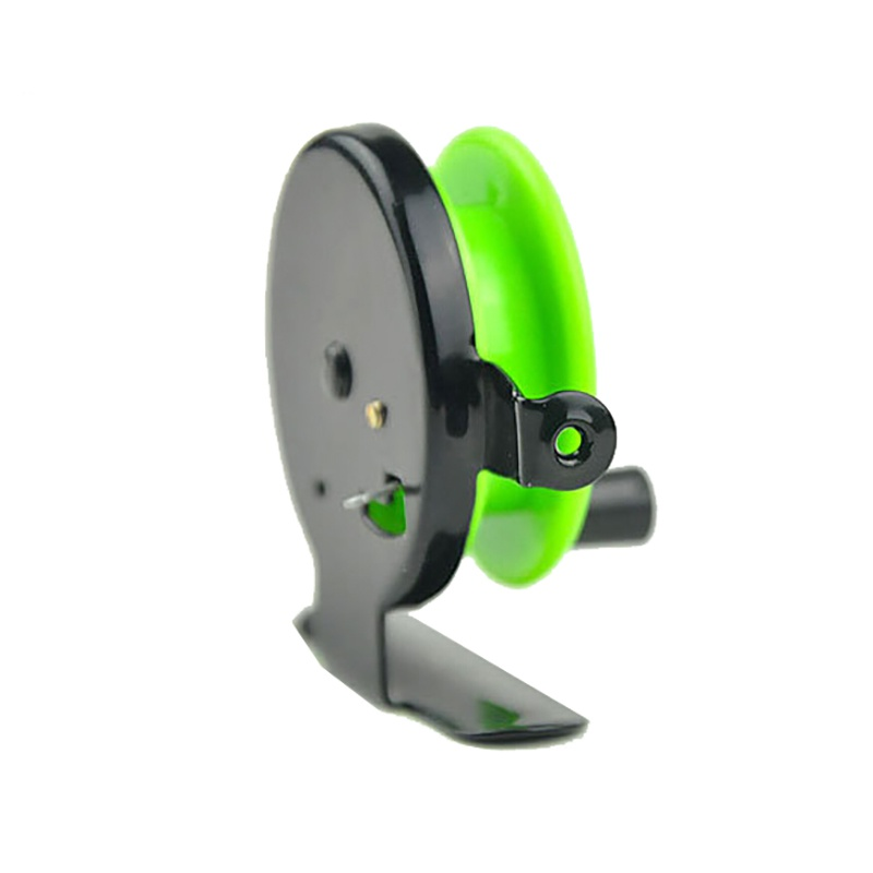 Image 4 - Winter Ice fishing wheel Mini fishing reel  reel small wheel front wheel Green Color TX005-in Fishing Reels from Sports & Entertainment