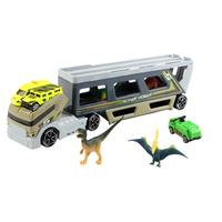 Boxed Dinosaur Model Trailer Large Container Transport Truck Set Child Toy