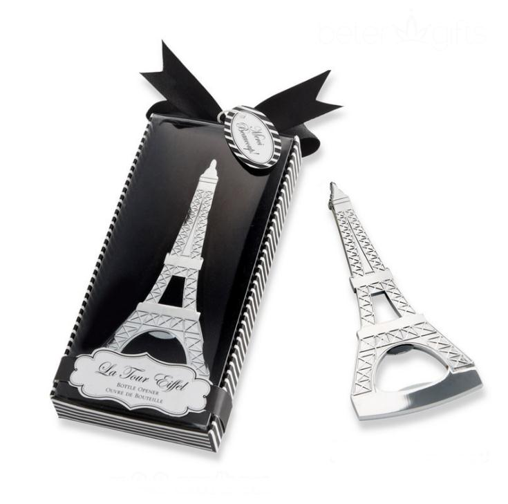 Romantic Wedding Souvenirs Paris Tower Bottle Opener Novelty Wedding Party Favor Gifts With Retail Package Box SN1252