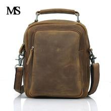 Genuine Leather Bag Natural Cowskin Men Messenger Bags Vintage Men's Cowhide Shoulder Crossbody Bag Men Hangbags TW2009