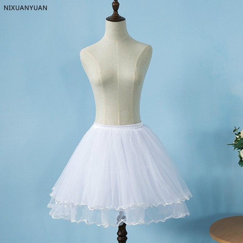 Soft Tulle Ball Gown Short Petticoat Lolita Cosplay Short Dress Petticoat Ballet Tutu Skirt Rockabilly Crinoline