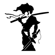 15cm x 12cm Afro Samurai Funny Car Sticker For Truck Window Bumper Auto SUV Door Laptop Kayak Vinyl Decal все цены