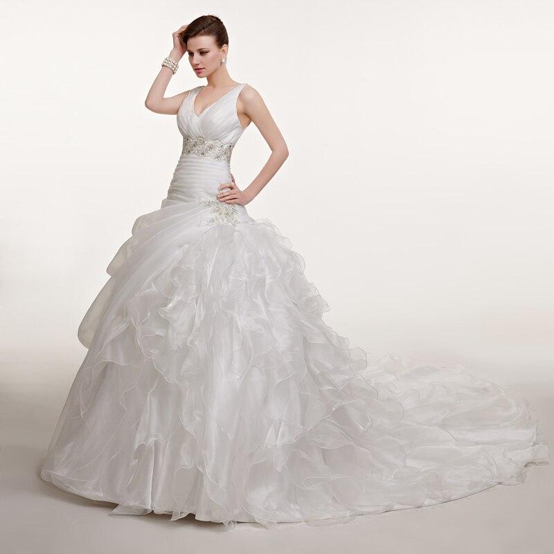 Forevergracedress Vintage V ausschnitt Lange Brautkleid Ballkleid ...