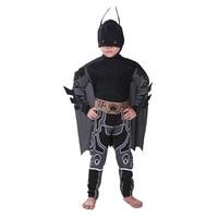 Costume 2018 Kids Deluxe Muscle Dark Knight Batman Child Halloween Party Fancy Dress Boys Superhero Carnival