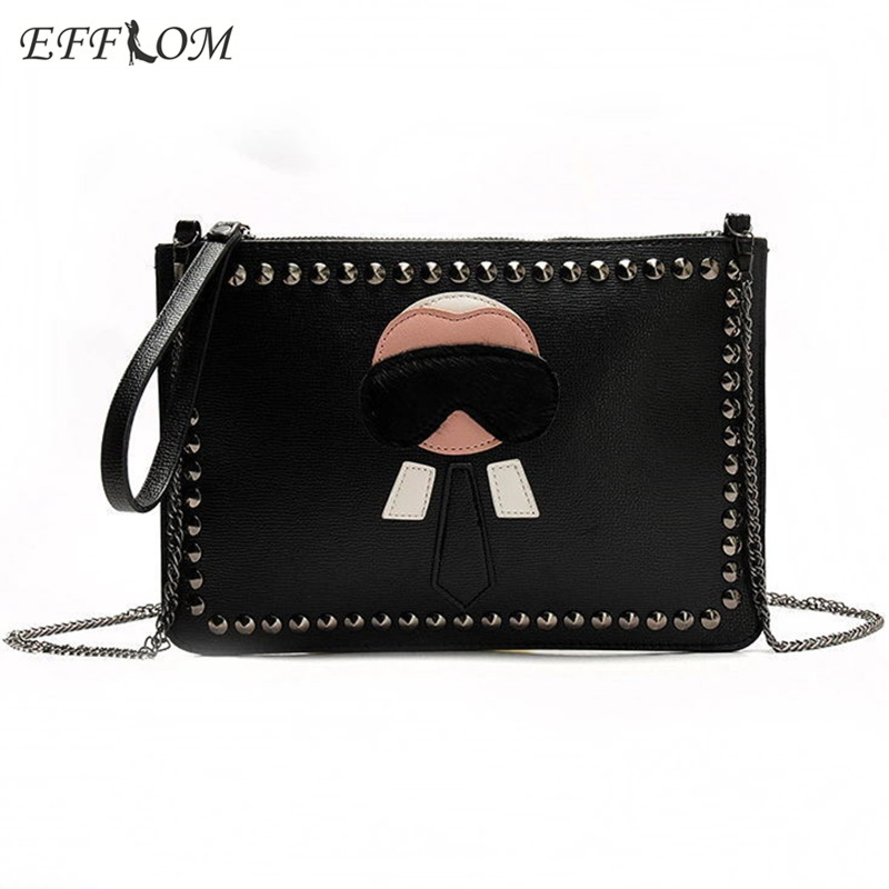 Luxury Handbags Women Bags Designer Rivet Envelope Clutch Chain Crossbody Bags For Ladies Hand Bag Stud Evening Purses Clutches недорого