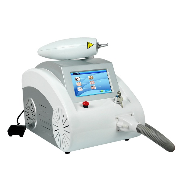 mini nd yag laser machine hand piece With red aiming