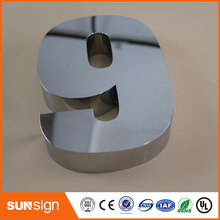 Digital Door House Number 9 Stainless Steel numbers popular brushed stainless steel led backlit house numbers