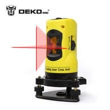 DEKOPRO Neue Professionelle 2 linien laser-niveau 360 dreh kreuz laser linie nivellierung kann mit außen verwendet empfänger