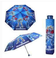 Children Umbrella Cartoon Cartoon American Captain Three Fold Student Spiderman Shade Sunny Umbrella Boy