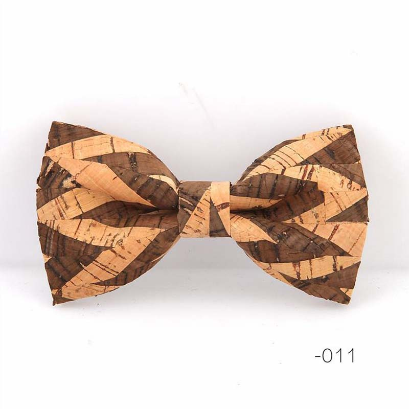 Cork Wood Bow Tie