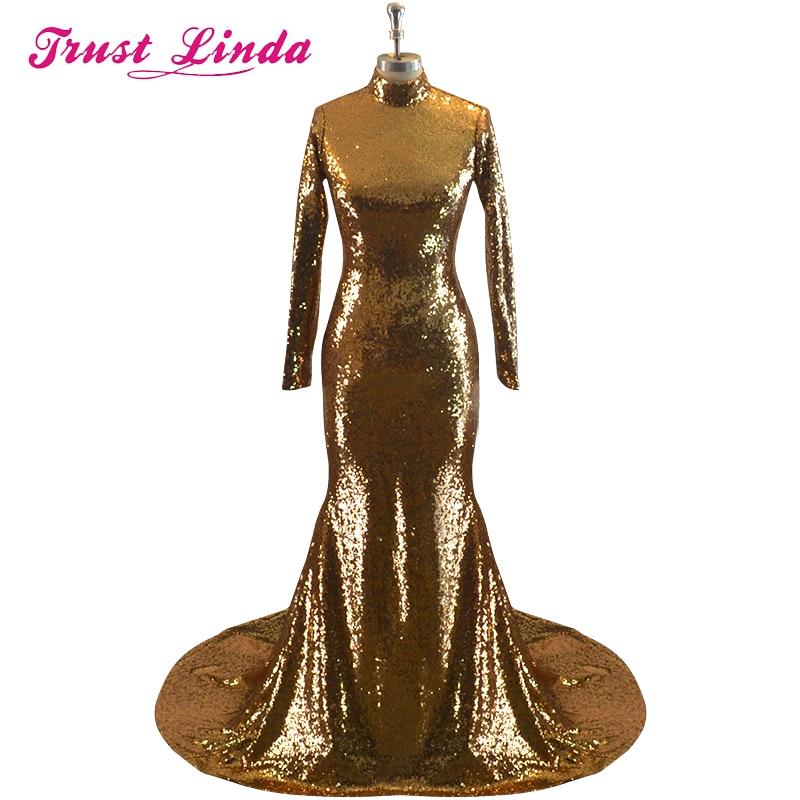 Robe De Soiree 2017 Πολυτελή φορεσιά χρυσή - Ειδικές φορέματα περίπτωσης - Φωτογραφία 1