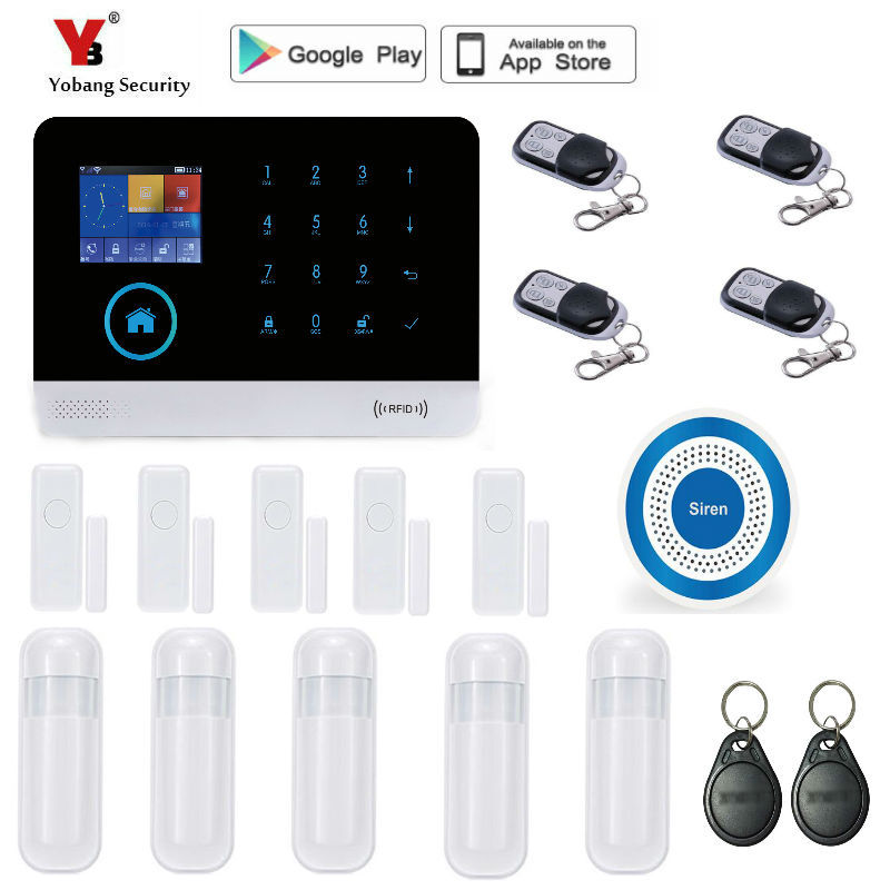 Yobang Security Remote Controller Touch Keypad Wireless wifi GSM Alarm System 433MHz Home Burglar Security Alarm System цена и фото
