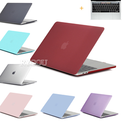 Laptop bag cases for macbook air pro retina 11 12 13 15 clear matte hard case.jpg 250x250