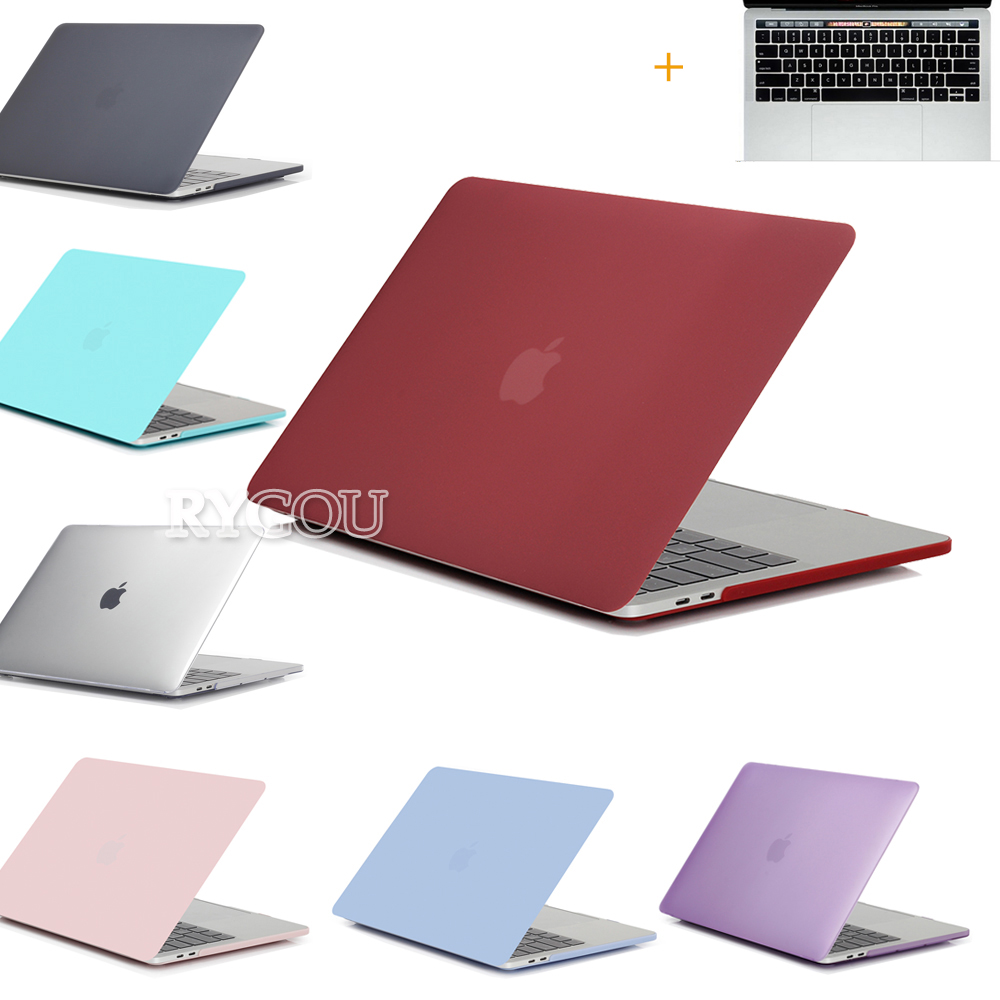 New Clear Matte Hard Case for Macbook Pro 13 15 With Keyboard Cover for Macbook Air Pro Retina 11 12 13 15 inch Laptop Bag Case