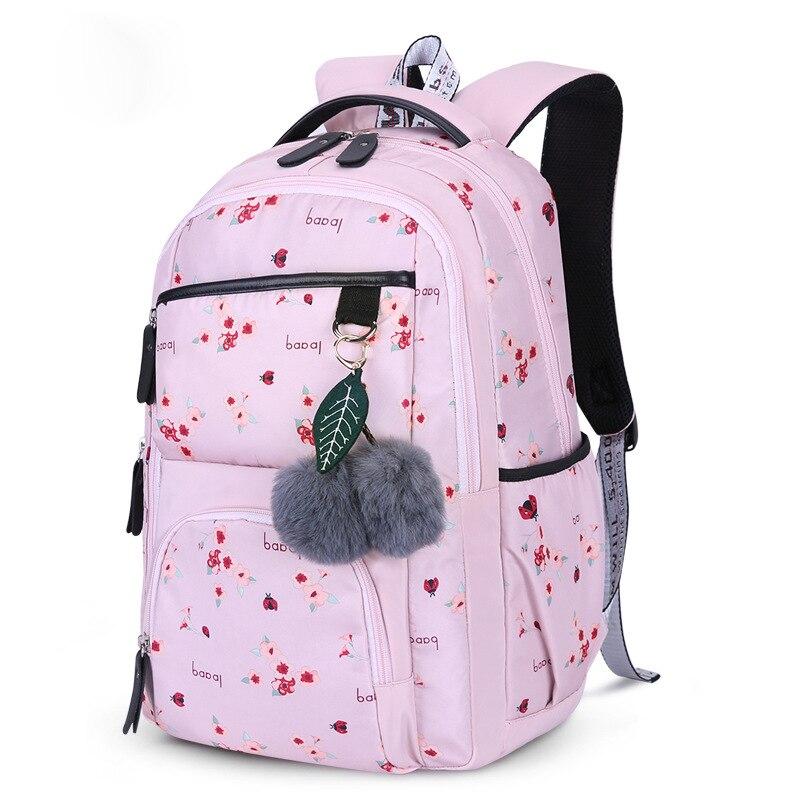 Girls School Backpacks Korean Style Children School Bags Large Capacity Flower Printing Backpack Bag For Girl Kids Mochila