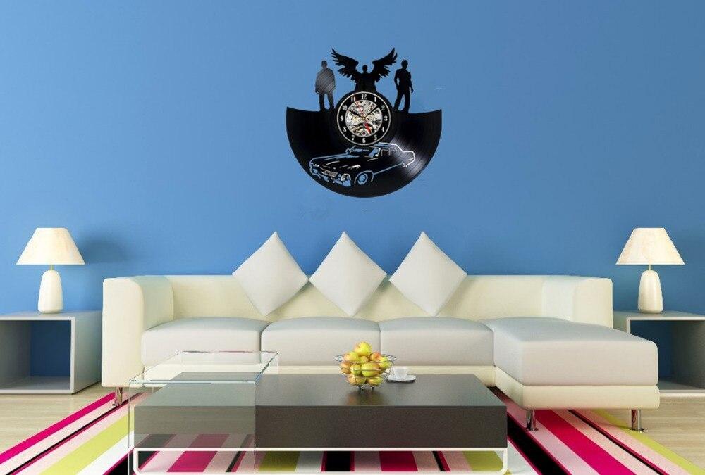 Supernatural ontwerp vinyl record klok home decor art speelkamer