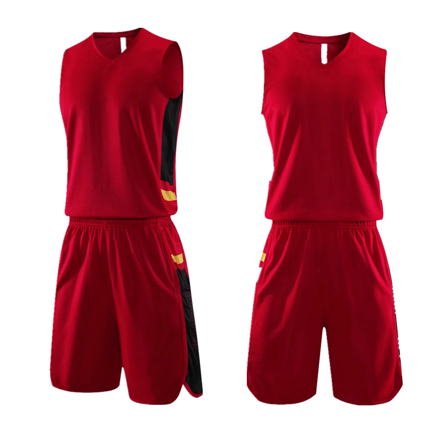 New Men Women Basketball Jersey Suits Blank Breathable