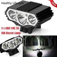 12000 Lm 3 x XML T6 светодио дный 3 режима велосипед лампа велосипед свет фар Велоспорт факел Открытый свет велосипед аксессуары WS & 40