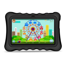 "Yuntab 7 ""Q88H Android4.4 Tablet PC carga Iwawa kid software 3D-Game bluetooth Juego Educativo Aplicaciones con Elegante del Caso del soporte (negro)"