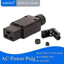 IEC PDU UPS 16A 250VAC 320 C 19 plug, IEC C19 DIY plug, conector de alimentação IEC conector IEC 320 C19 C19 Conect Plugue femea