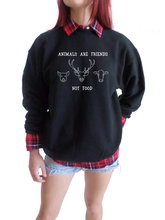 Animals are Friends not Food crewneck sweatshirt
