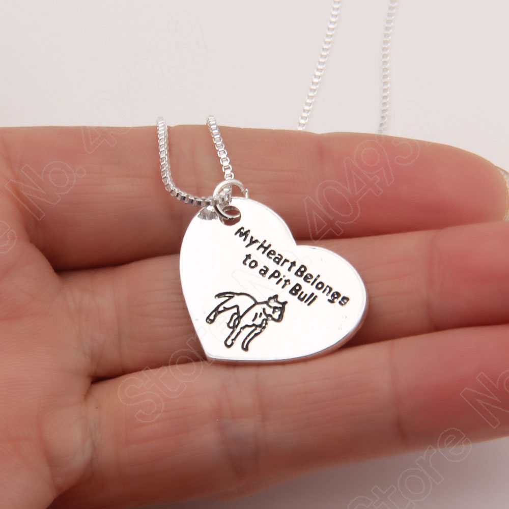 1pcs pitbull necklace pendant pit bull heart pendant dog memorial 1pcs pitbull necklace pendant pit bull heart pendant dog memorial pet necklaces pendants women animal charms christmas gift in choker necklaces from aloadofball Gallery