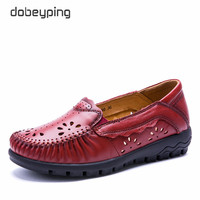 2017 New Summer Women S Casual Shoes Real Leather Woman Flats Handmade Female Loafers Mother Boat