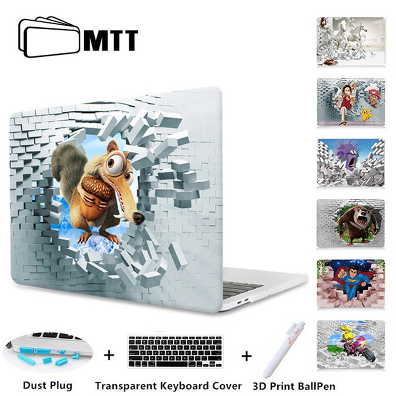 MTT 3D Wall Hard Case For Macbook Air 11 13 Retina Pro 13 15 Laptop Sleeve For Apple mac book 12 inch Cover 2018 New Laptop Case redlai plant floral print hard case for apple macbook pro retina 13 3 12 15 4 sleeve air 11 13 3 new pro 13 15 a1706 laptop case