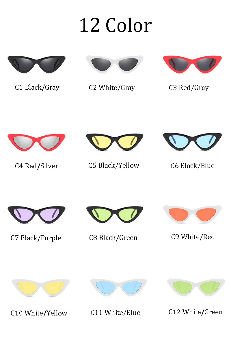 Dpz Fashion Sexy Retro Cat Eye Sunglasses Women Small Black Red 2018 Green Summer New Triangle Vintage Cheap Sun Glasses Female Oculos Uv400 In From Womens