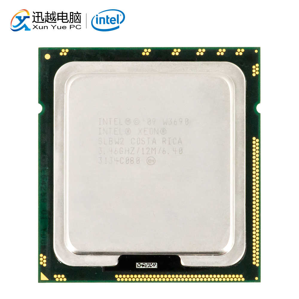 Intel Xeon W3690 Desktop Prosesor W3690 6-Core 3.46G Hz 12MB L3 Cache LGA 1366 Server Digunakan CPU