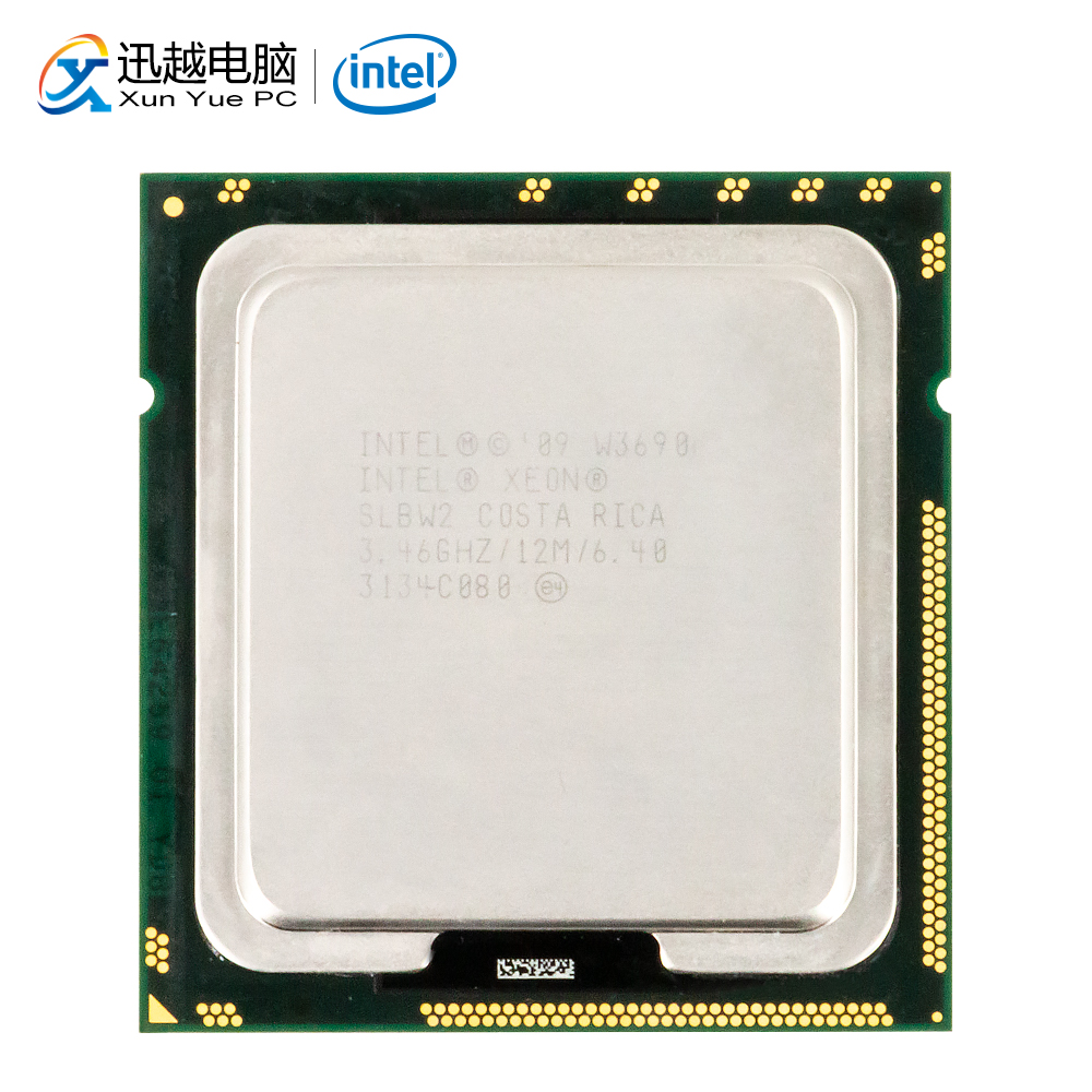 Intel Xeon W3690 Desktop Processor W3690 Six-Core 3.46GHz 12MB L3 Cache LGA 1366 Server Used CPU image