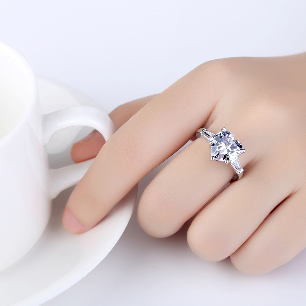 Ring for Women Temperament Heart Shaped Open Wedding Ring Lovers ...