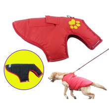 Autumn and winter new pet clothes double-sided can be used golden big dog outdoor warm waterproof cotton vest