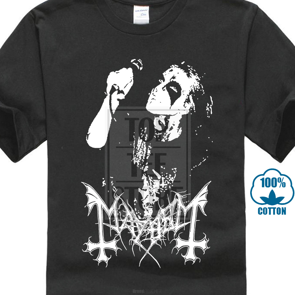 Mayhem Dead   T     Shirt   Norwegian Black Metal Morbid Euronymous Beherit Darkthrone Teenage Natural Cotton Printed Top Tee   T     Shirt