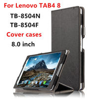 Case For Lenovo TAB4 8 Protective Smart Cover Faux Leather Tablet Tab 4 8 TB 8504F
