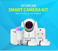 Vstarcam Smart IP Камера комплект Wi Fi HD 720 P ИК пульт дистанционного Управление CCTV Камера Системы с E27 лампа, гнездо, ПИР/двери Сенсор
