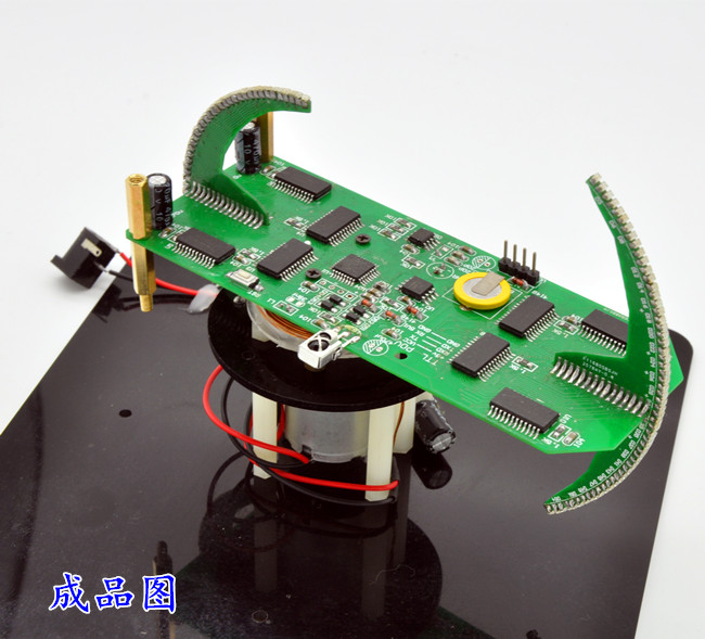 Double Ball Rotation LED New POV Suite of Creative Clock Parts Electronic Training Kit LED Display 4pcs new for ball uff bes m18mg noc80b s04g