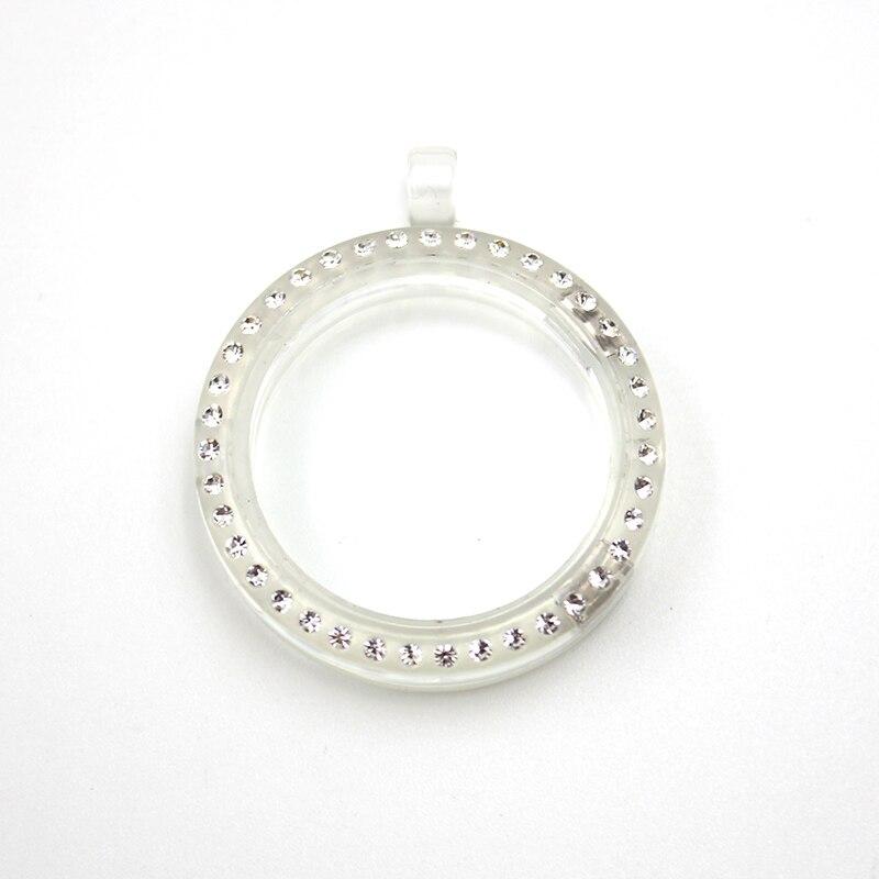 30 мм Магнитная застежка белый и ясно Цвет акрил плавающей медальон, живущих очарование медальон Кулон (только медальон)