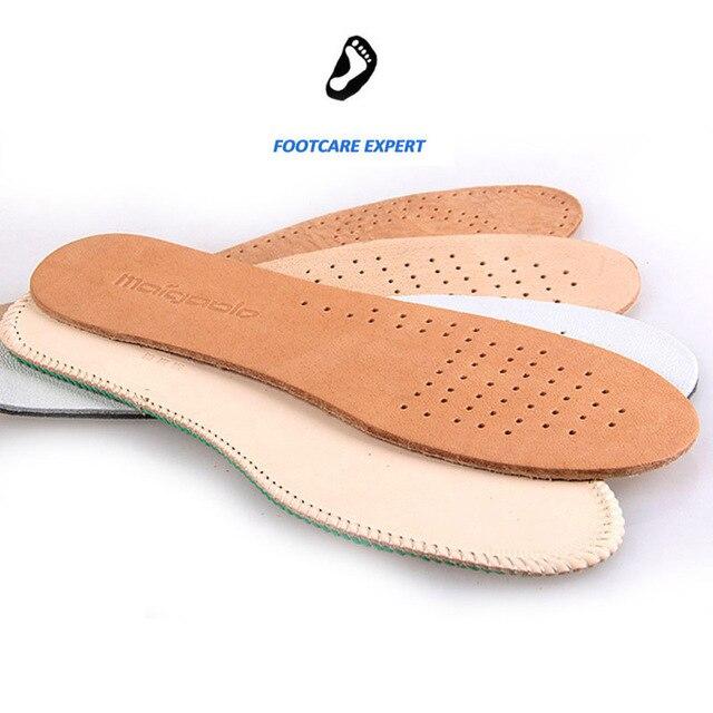 987272b53 Pronação Cowskin Sapatos Ortopédicos Palmilha de Couro Para Homem E Senhora  Beleza Pés Almofada Nova Unisex