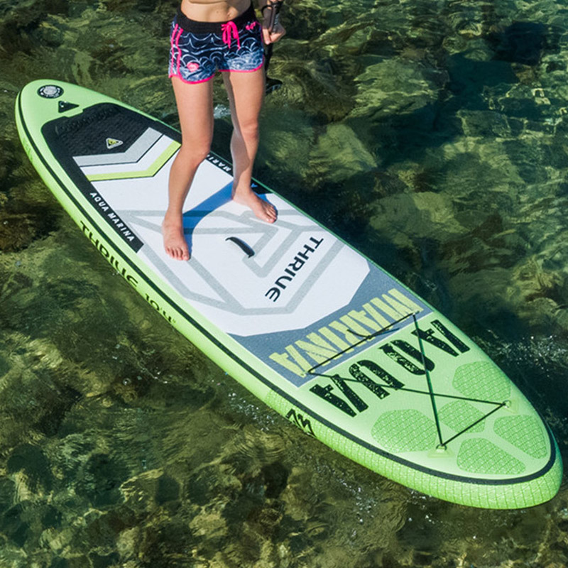 2017 신품 * 300 * 75 * 15cm AQUA MARINA 서핑 보드 보드 서핑 보드 A01006 보드와 함께 서있는 팽창 식 보드가있는 10 피트 THRIVE