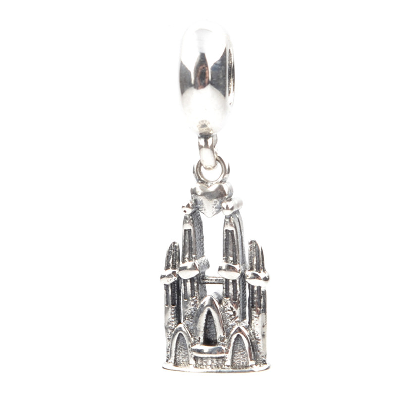 Lucky Sonny Church Charm Bead Fit Women Pandora Charm Authentic Sterling Silver 925 Original DIY Beads for Jewelry Making LSH049