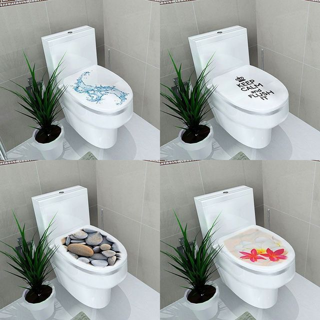 3d Pattern Fashion Design Diy Toilet Seats Stickers Bathroom