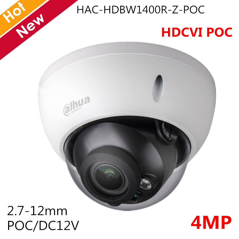 Dahua 4MP HDCVI POC Camera 2.7-12mm Motorized lens Support POC and DC12V Smart IR 30m Dome Camera Security camera for cctvDahua 4MP HDCVI POC Camera 2.7-12mm Motorized lens Support POC and DC12V Smart IR 30m Dome Camera Security camera for cctv