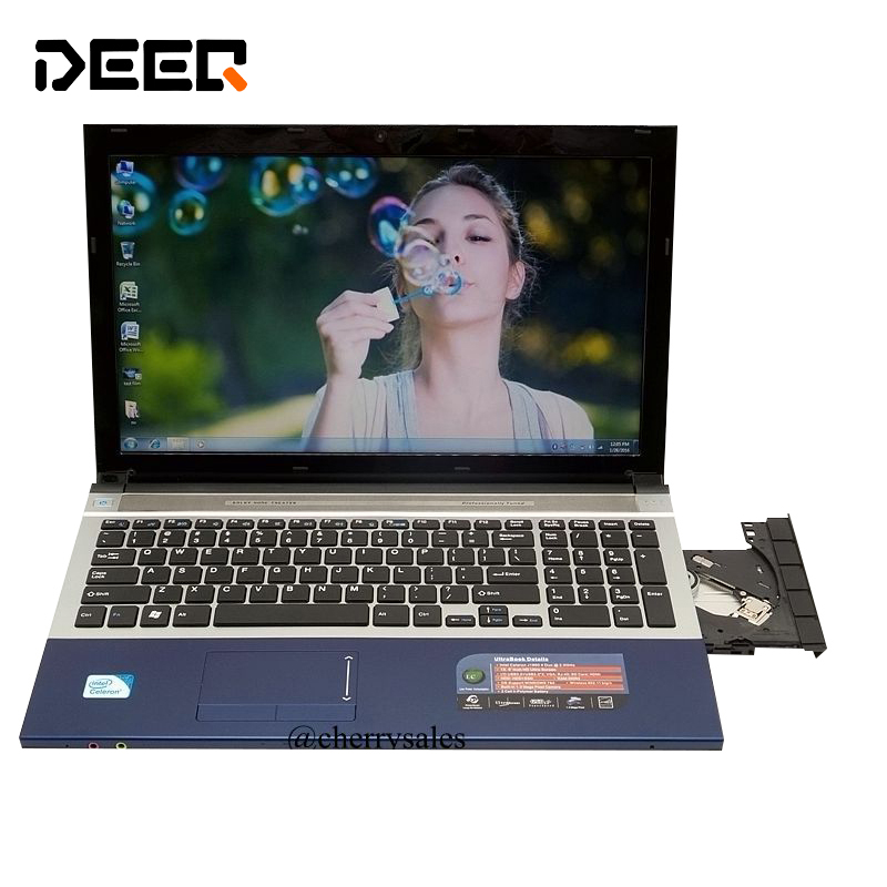 15.6 inch gaming laptop notebook computer Wtih DVD 8GB DDR3 500GB+128G SSD intel Pentium OR i7 CPU WIFI webcam HDMI