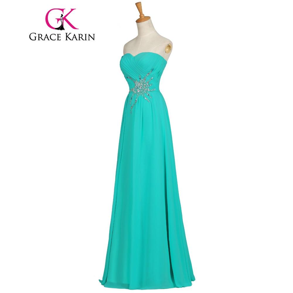 Grace Karin Elegant Long Prom Dresses Light Sea Green Chiffon Long ...