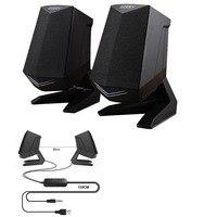 Portable speaker USB Double horn Wired speakers Stereo Loudspeaker Music Player for Desktop PC Laptops home theater phones MP3
